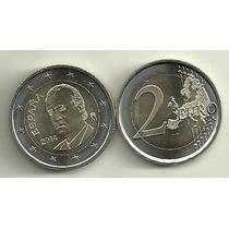 Moneda España Bimetalica 2 Euro Año 2014 Rey Juan Carlos