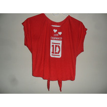 Blusa Camisa One Direction Artistas Online Talla S M .rojo