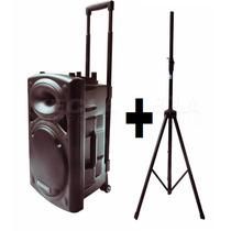 Caixa De Som Ecopower 350w Rms Usb/sd, 2mic S/f + Notafiscal