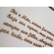 Palavras E Frases Mdf Cada 3 Letras 3cm Altura