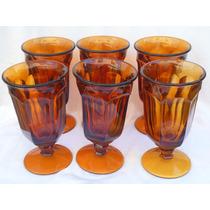 Copas Vasos Té Helado Imperial Glass Old Williamsburg Av50