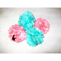 Aurojul-2 Flores Tela C/gancho P/cabello,-aprox.8cm Diametro