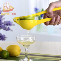 Espremedor De Limão Manual Ferro Fundido Verde Amarelo 22 Cm