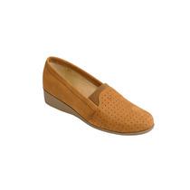 Zapato De Descanso Para Dama Piel Camel Modelo 889