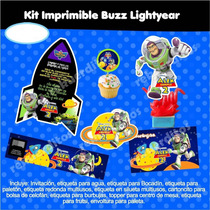 Kit Imprimible Toy Story Buzz Fiesta Infantil Etiqueta Bolo