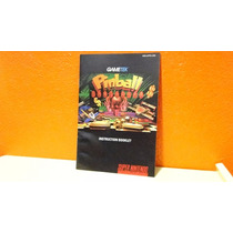Manual Original- Pinball - Fantasies- Snes