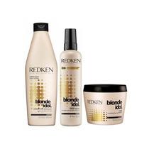 Redken Blonde Idol Shampoo + Condicionador + Mascara