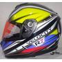 Casco Motociclista Abatible R7 Racing R7-107 Dot Amarilo