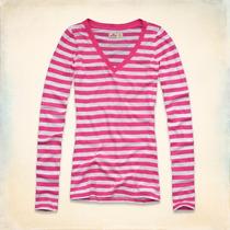 Camiseta Hollister Feminina Blusa Abercrombie Moletom Gap