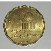 Moneda Argentina Mundial 78 20 Pesos *147