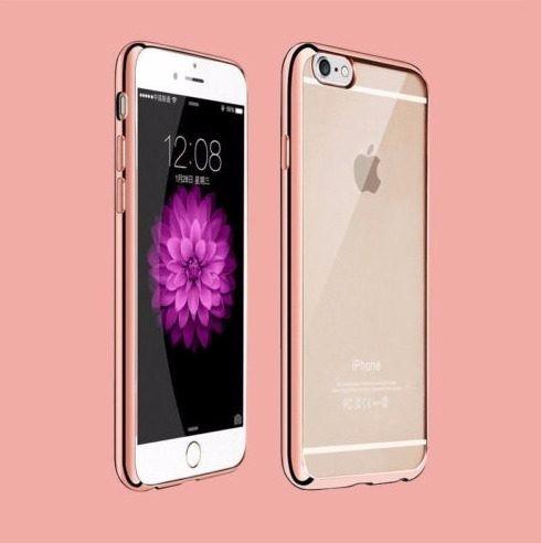 capinha case iphone 6 plus 6s plus silicone borda rose rosa r 38 99 em mercado livre. Black Bedroom Furniture Sets. Home Design Ideas