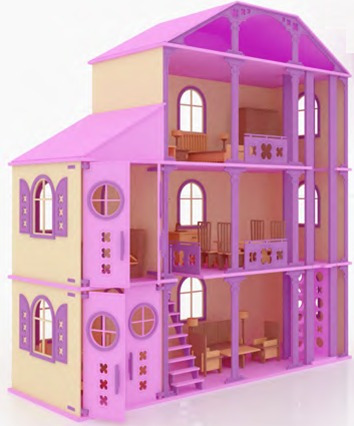 Casa fantasia para mu ecas barbie monster high en madera - Catalogo cosas de casa ...