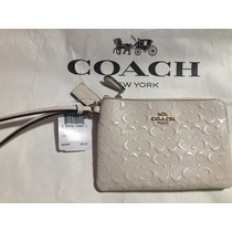 Bolsa/cartera Coach Wristlet, Nueva, Color Blanco