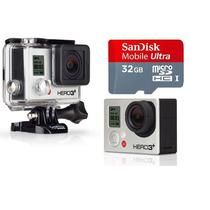 Gopro Camera Hero3+ Silver Edition Full Wi-fi Hd Go Pro+32gb