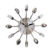 Relógio De Parede Para Cozinha Em Formato De Talheres