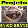 Projeto Fazer Barcos Canoa Com Fundo Em V Envio Grátis