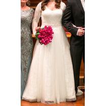 Maravilhoso Vestido De Noiva Oleg Cassini Comprado Nos Eua