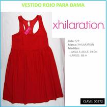 Vestido Rojo Para Dama Marca Xhilaration T S/p Envío Gratis