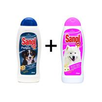 Shampoo Antipulgas + Condicionador Para Cães Sanol Dog