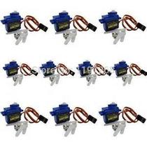 Micros Servos 9g Sg90 Towerpro + Acessórios ( 10 Unidades )