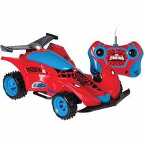 Carro Com Controle Remoto Spider-man Machine 3 Funç. Candide
