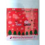 Lote 100 Saquinhos 10cmx10cm Brownie Natal Com Lacre Adesivo
