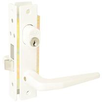 Cerradura Puerta Aluminio Residen Cilindro Doble Blanco Lock