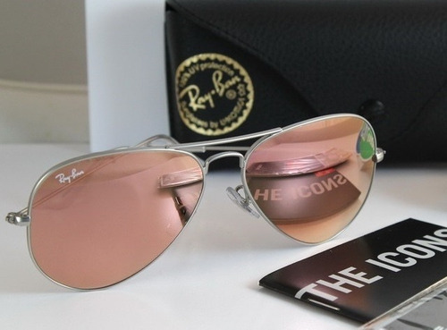 16bedd4a9f368 Lentes Gafas Sol Ray Ban Aviador Aviator Rosa Espejo Pink Rb -   1