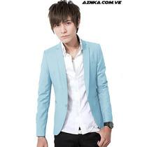 Blazer Fashion Slim Fit Fresh Sky Caballero Ainka