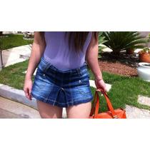 Shorts Saia Jeans Sawary Com Elastano Tamanhos 36 E 38