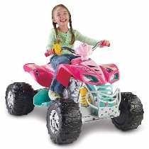Moto Power Wheels Barbie Kawasaki Kfx