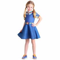 Vestido Fantasia Uniforme Chiquititas Pop - P - M - G