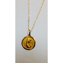 Cadena Oro 18 Ktes Medalla Virgen Niña Psp Gps