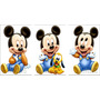 Kit 6 Mickey Baby Disney Display Mesa Decoração De Festa Mdf