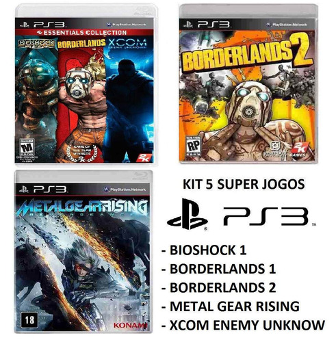 Bioshock Borderlands 1 E 2 Xcom Enemy Mg Rising