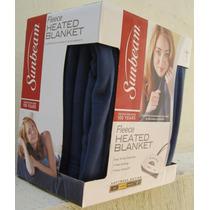Cobertor Electrico Sunbeam Cama King Size Lavado Maquina Env