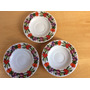 Platos Porcelana Tsuji Diseño Flores Lote De 3