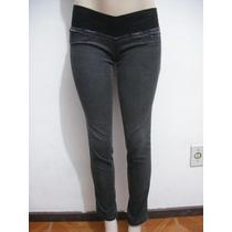 Calça Jeans Sawary Com Elástico Cintura Tam 36 Bom Estado