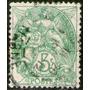 Francia Sello Usado Símbolo Libertad, Igualdad, Años 1900-29