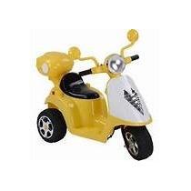 Scooter Elétrica Infantil Sunny 6v Amarelo - Modelo Grande