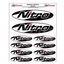 Adesivo Refletivo Moto Capacete Carro Nitro M1 +frete Grátis