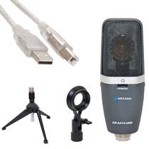 Microfone Usb Estúdio Ar-a414-usb Baseado Akg C414 Asio Driv