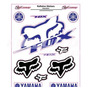 Adesivo Refletivo Moto Capacete Carro Yamaha Fox Tt Yz Wr