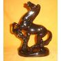 Delicada Figura Ceramica Esmaltada Caballo Brioso (01095)f