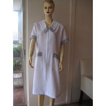 Delantal/uniforme, Blanco Talla L,