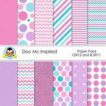 Kit Imprimible Pack Fondos Doctora Juguetes Clipart