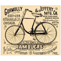 Lienzo Tela Bicicleta American Ramblers 1891 47 X 57 Cm