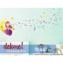Violinista En La Luna Sticker Decorativo... Dekore!
