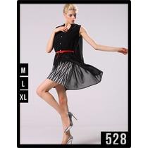 528 Vestido Corto Con Doble Fondo Diseño Unico