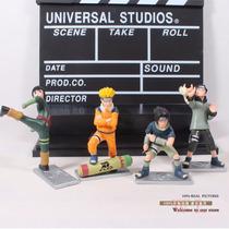 Kit Rock Lee + Naruto + Sasuke + Kiba - Frete Grátis